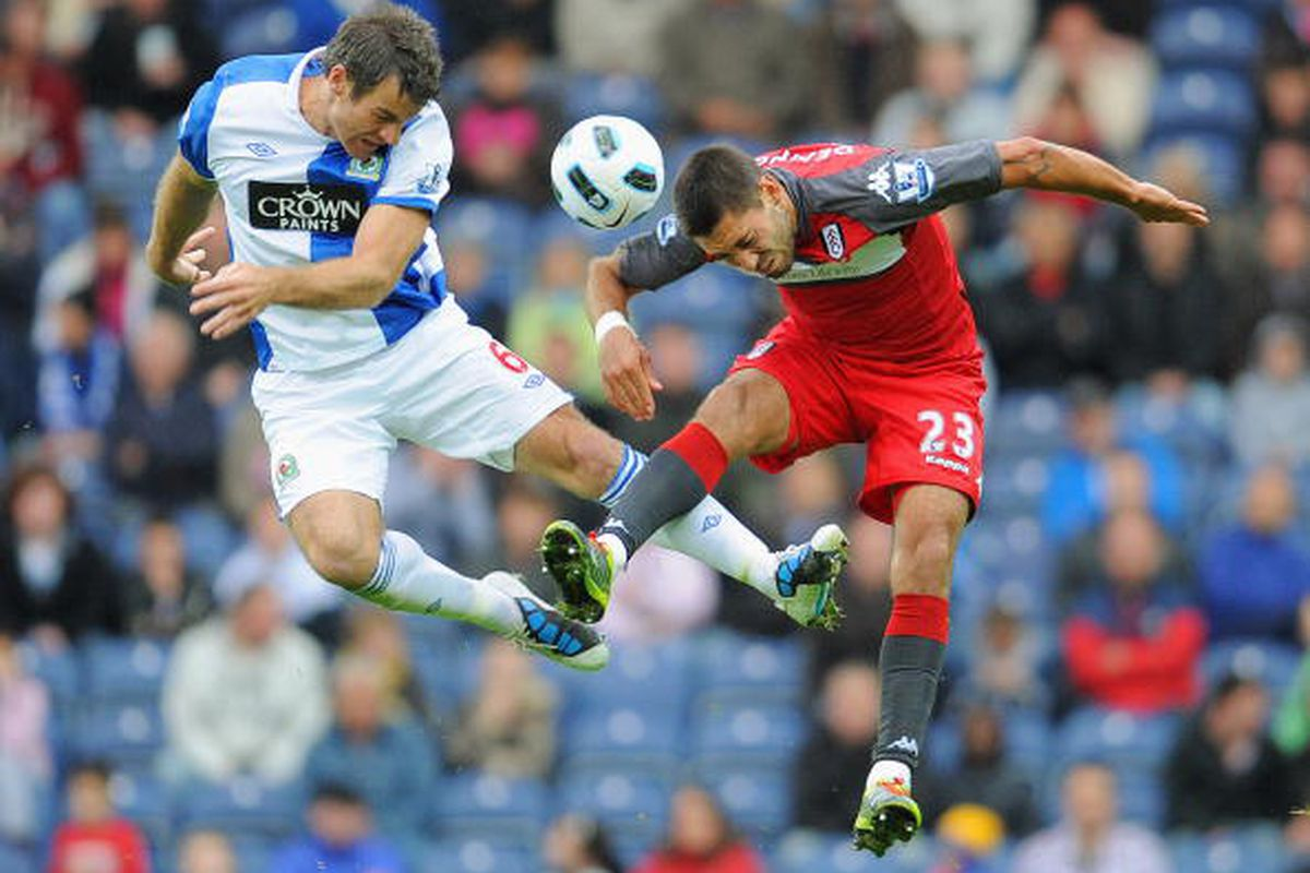 Clint Dempsey's header against Blackburn. This photo is via Getty Images.
