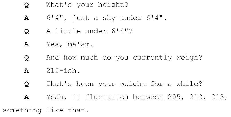 Wilson height weight