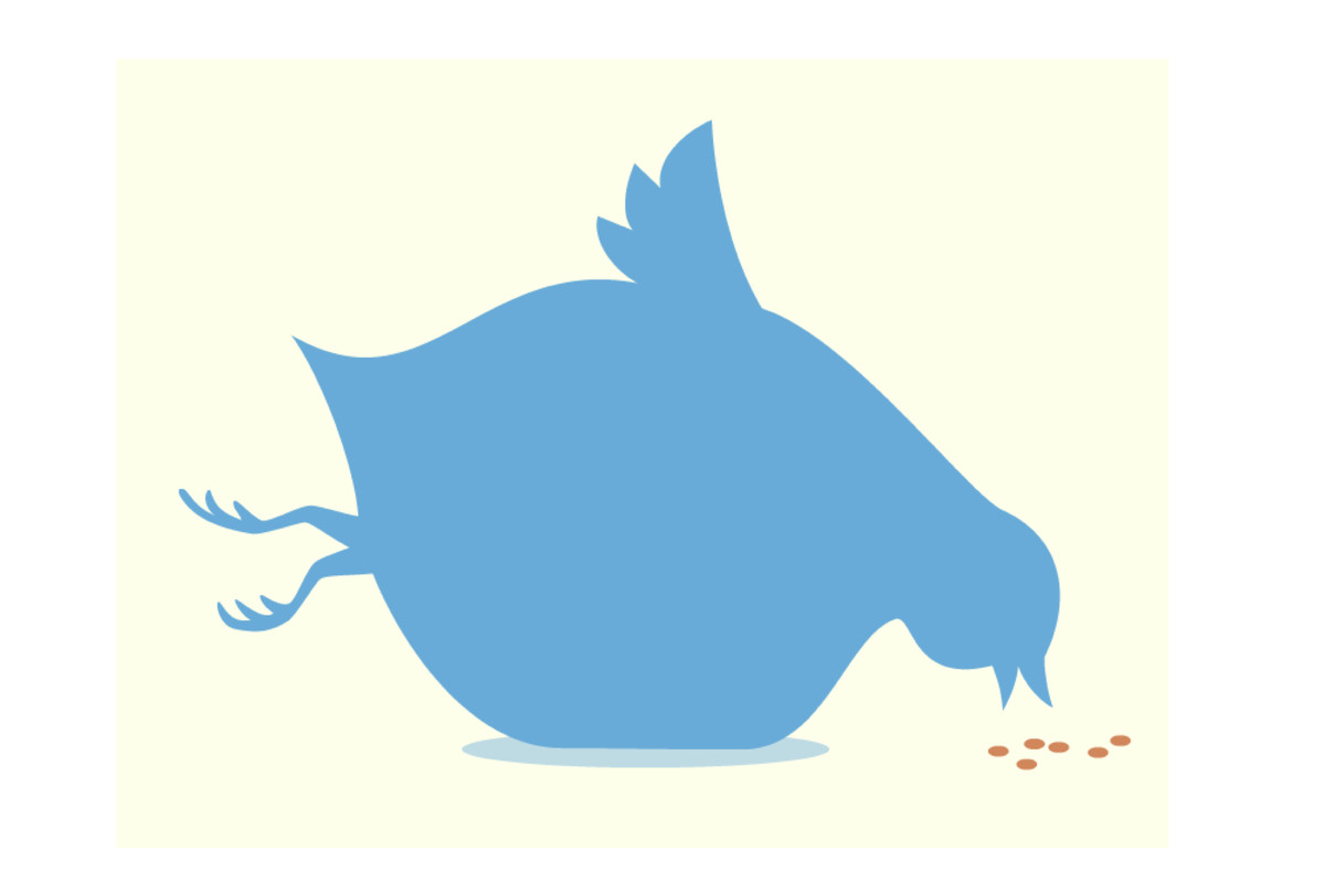 Illustration of the Twitter bird icon if it doubled in size.