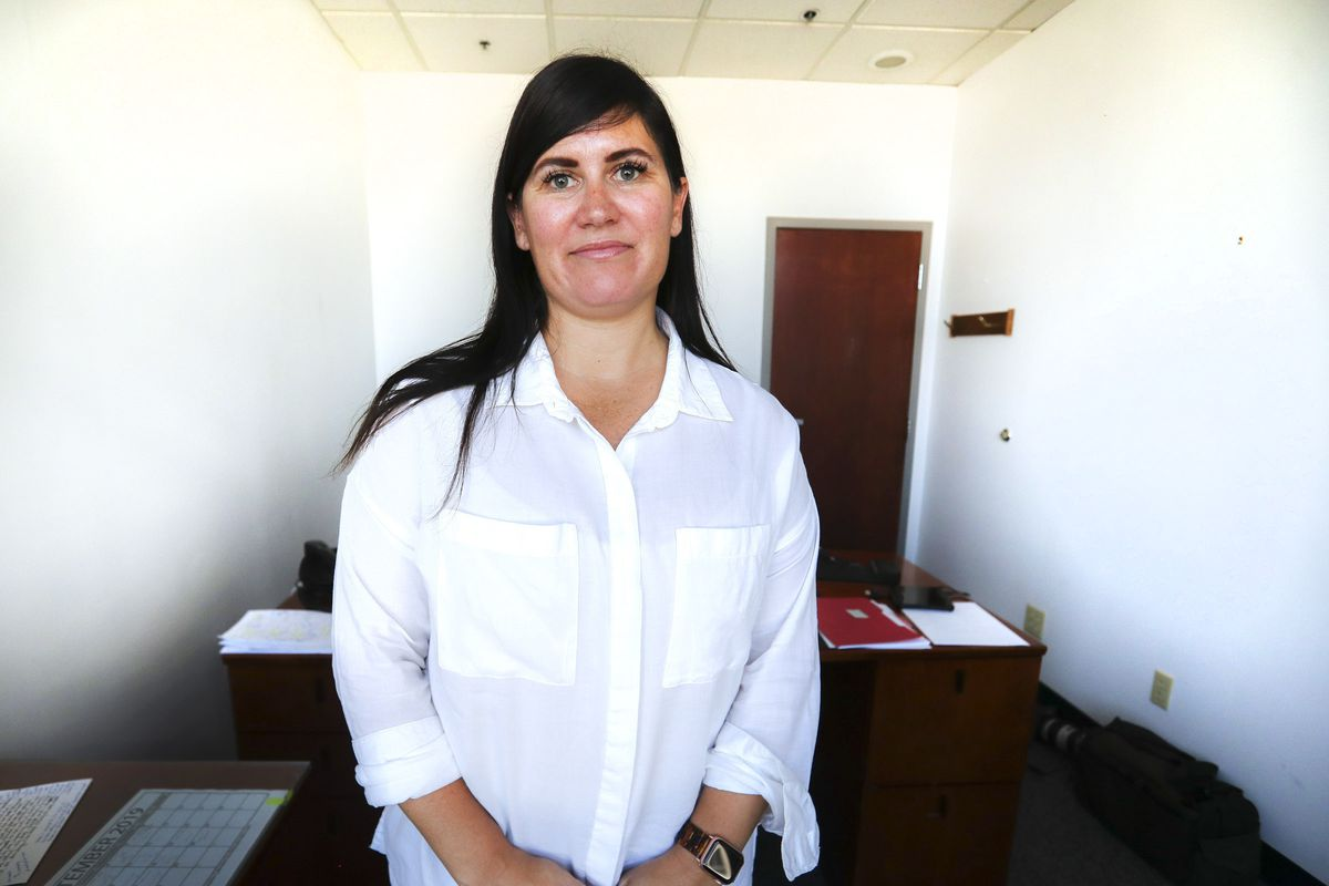 West Valley City prosecutor Yvette Rodier is pictured in her offices in the West Valley City Justice Court building on Wednesday, Sept. 4, 2019. Twenty-five years ago, Rodier was the victim of a vicious and random shooting. Her friend was killed in the attack.