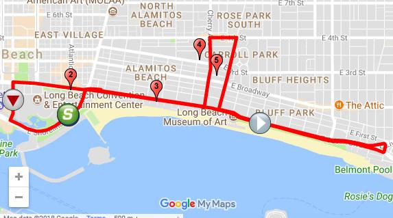 Amgen Tour of California, Long Beach route