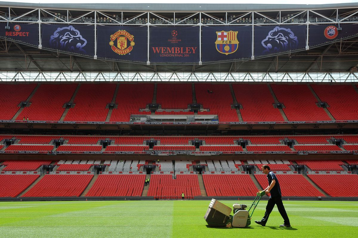 The Champions League final is once again at Wembley this season