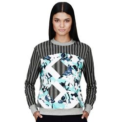 Sweatshirt in Light Blue Floral/Check Print, $29.99 (also available in red, also will sell out)