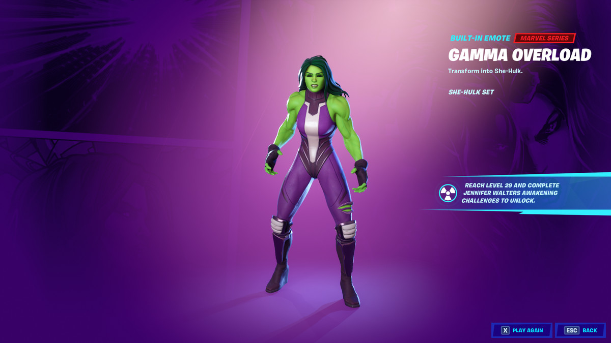 Fortnite's She-Hulk skin and emote