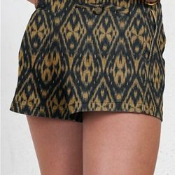 """We love the tribal print on these locally made shorts, which work for a daytime shopping spree or a night out. $142, <a href=""""http://www.shophenryandbelle.com/trouser-short-short-in-sand"""">Henry and Belle</a>"""