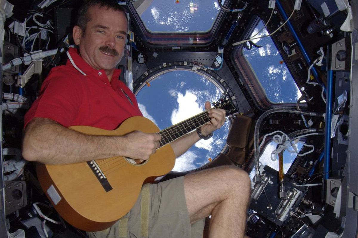 Astronaut Chris Hadfield Records First Song In Space Shares Holiday