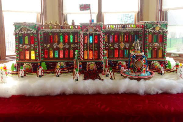 Colorful gingerbread palace.