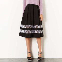 "<b>Topshop</b> Checked Organza Insert Midi Skirt in Black, <a href=""http://us.topshop.com/en/tsus/product/clothing-70483/skirts-70504/maxi-midi-skirts-70613/checked-organza-insert-midi-skirt-2214786?refinements=category~%5b209903%7c208649%5d&bi=1&ps=200"">"