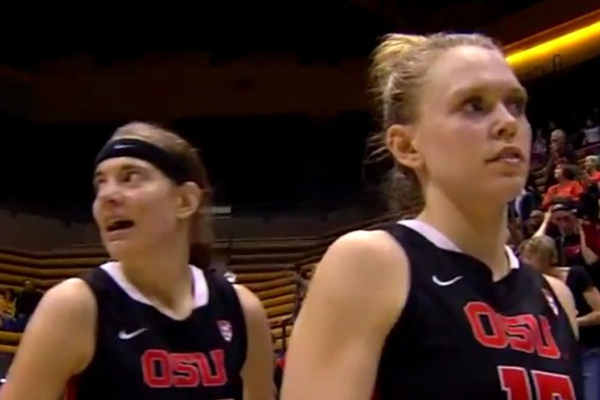 Oregon State's Sydney Wiese and Jamie Weisner join Ruth Hamblin on the All-Pac-12 Team