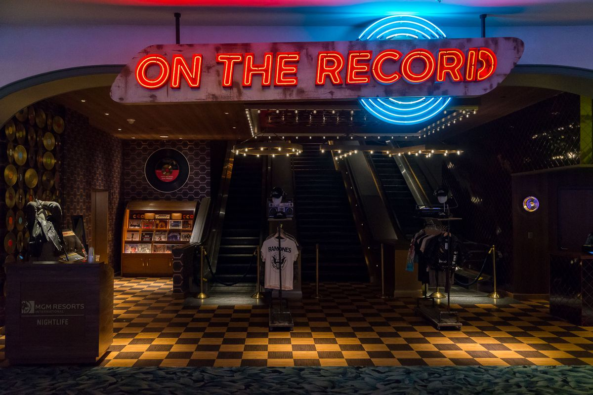 The entrance to On the Record