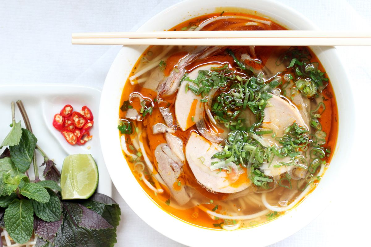 Noodle soup at Song Que Cafe, one of London's best Vietnamese restaurants