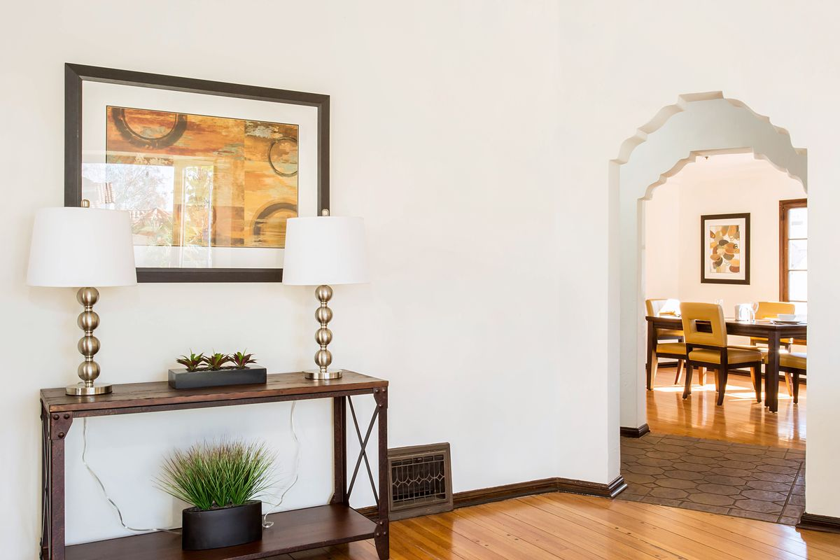 Dreamy Spanish-style house with exposed beams in Leimert Park asks ...