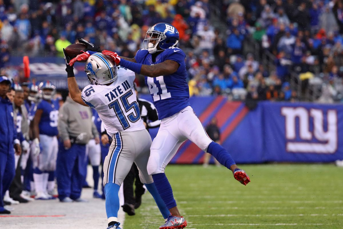 Golden Tate Darius Slay injured in Lions loss to Giants Pride