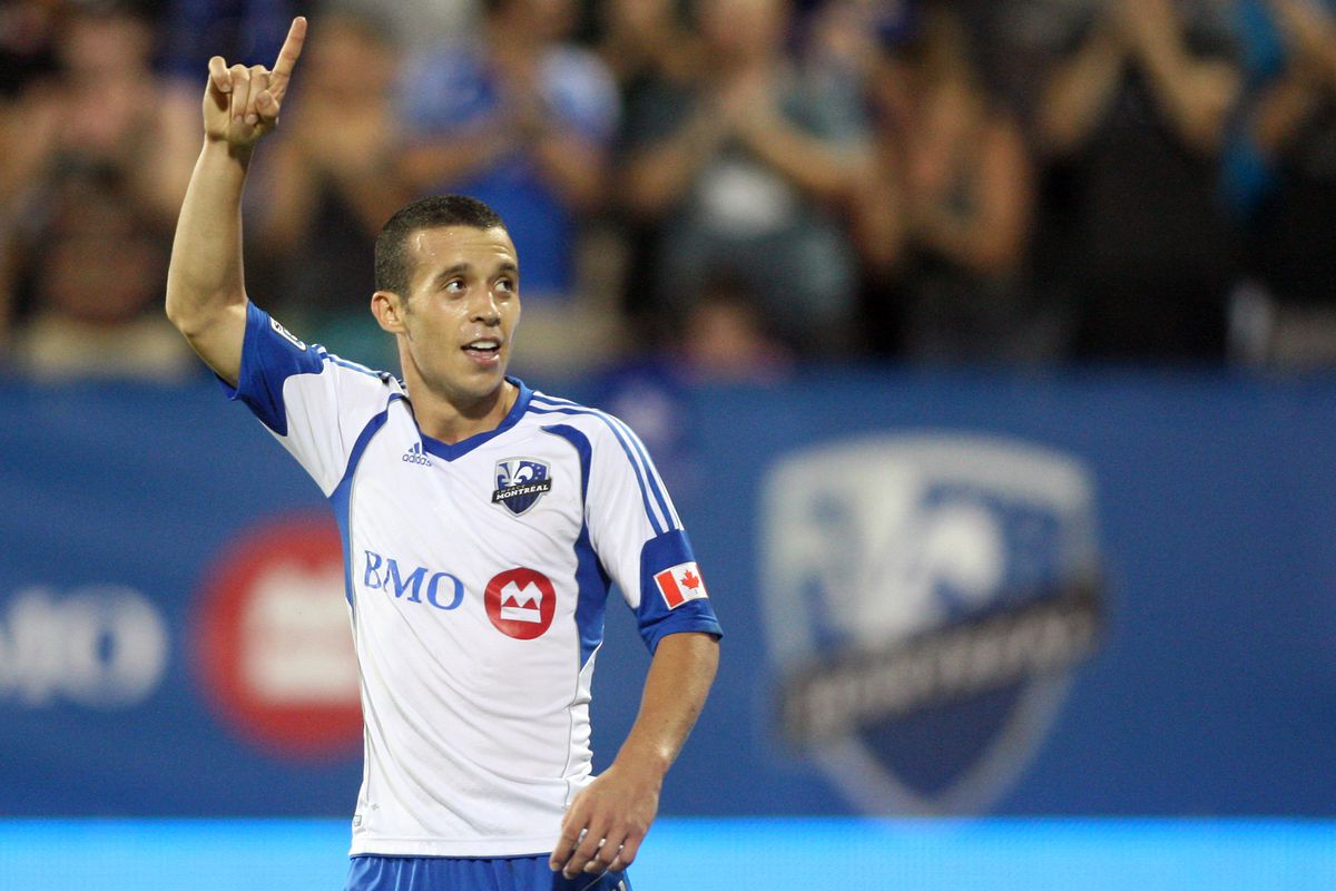 MONTREAL, CANADA - AUGUST 4:  Felipe Martins #7 of the Montreal Impact wants to lead his team right to the top. Does he have another goal of the week in him?  (Photo by Richard Wolowicz/Getty Images)