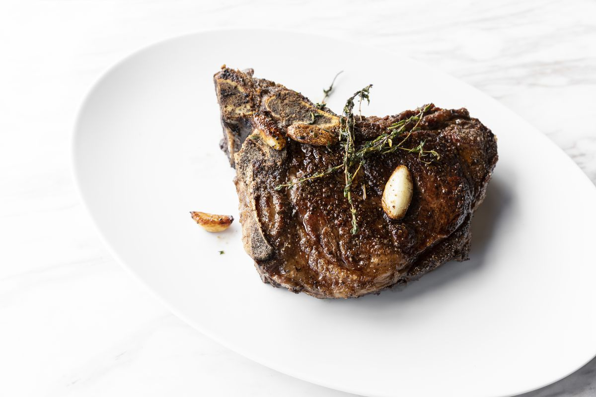 Ribeye steak at Georgia James