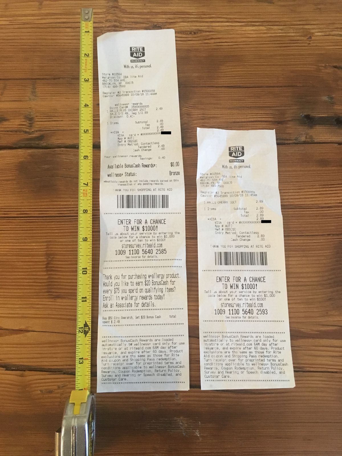 why are cvs receipts so long  an investigation