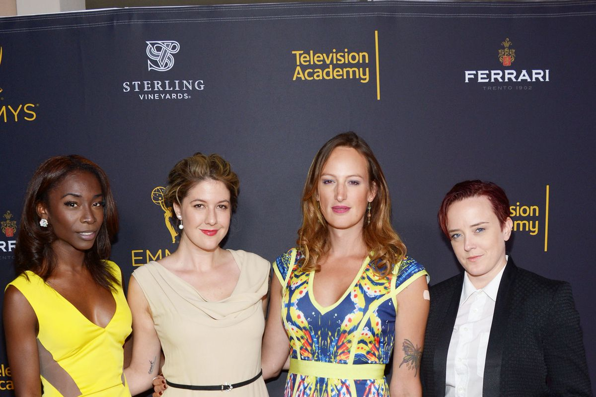 (L-R) Angelica Ross, Katherine Reed Fisher, Jen Richards and Laura Zak  attend the Television Academy hosts reception for Emmy-Nominated producers  at Montage ...