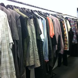 The men's selection upstairs on the ground floor