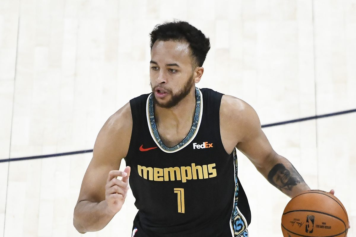 Kyle Anderson of the Memphis Grizzlies in action during Game One of the Western Conference first-round playoff series against the Utah Jazz at Vivint Smart Home Arena on May 23, 2021 in Salt Lake City, Utah.