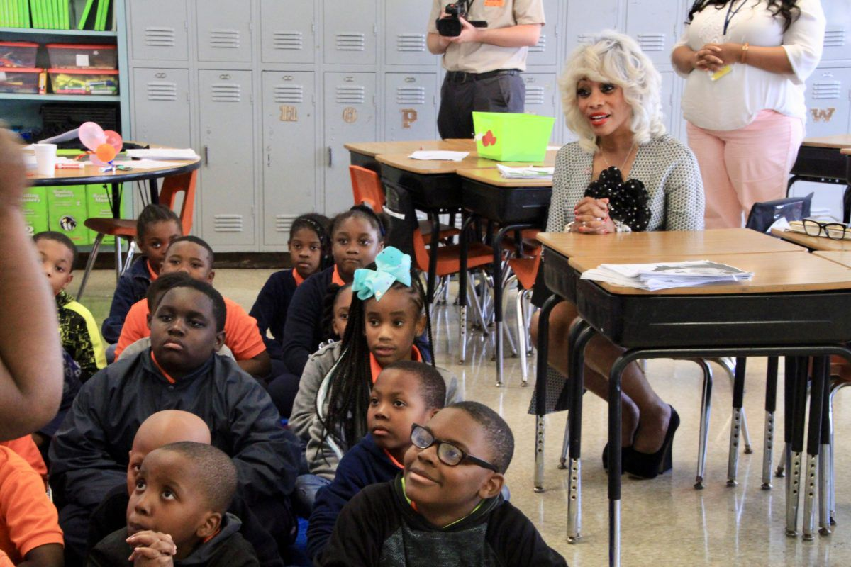 Sharon Griffin listens during a lesson at Freedom Prep's state-run elementary school. She spent her first school semester on the job on a listening tour, visiting each charter operator and talking through some of the Achievement School District's big challenges.