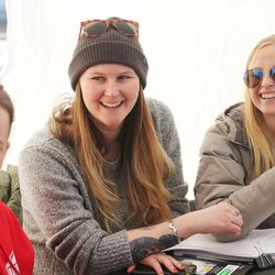 Volunteers Michelle Albana, Amelia Prebish and Emma Sawyer hand out syringes during an exchange program in Salt Lake City on Thursday, Dec. 29, 2016. Social worker Mindy Vincent, a former drug addict who is now clean and who lost a sister to an overdose, decided to start Utah's first syringe exchange program.