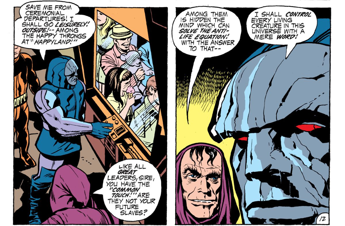 Darkseid and his administrator Desaad in Forever People, DC Comics