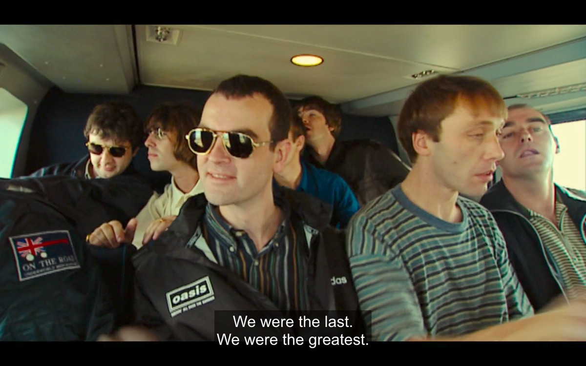 Still of Oasis in a helicopter