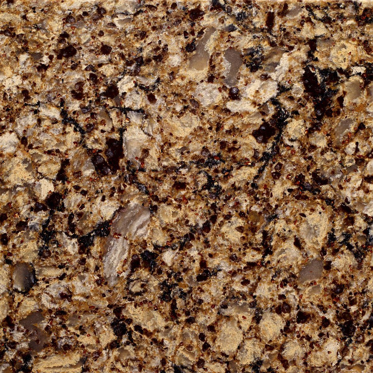 Earthy textured quartz option.