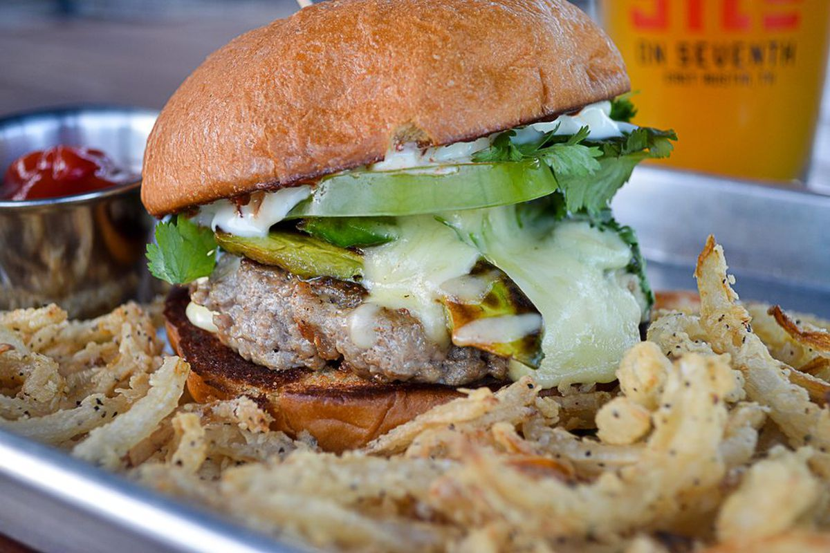 The Navasota burger from Silo on 7th