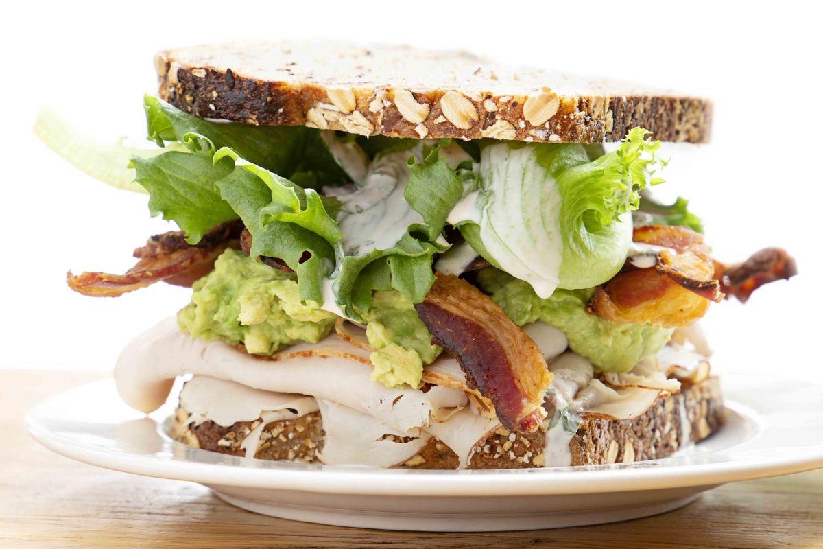 Turkey sandwich at Bisq at Time Out Market Boston (avocado, bacon, lettuce, multigrain, buttermilk ranch)