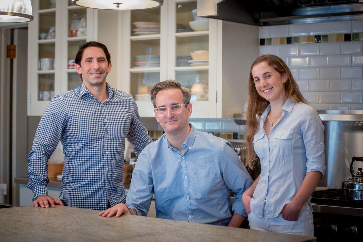 Umi Kitchen co-founders Khalil Tawil, Derek Gottfrid, and Hallie Meyer