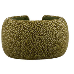 """Hermosa stingray cuff, $50 (was $298) via <a href=""""https://www.therealreal.com/"""">The Real Real</a>"""