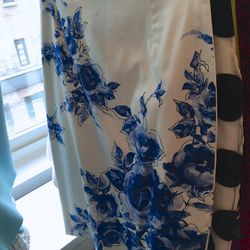 Flower print pencil skirt, $195 (was $695)