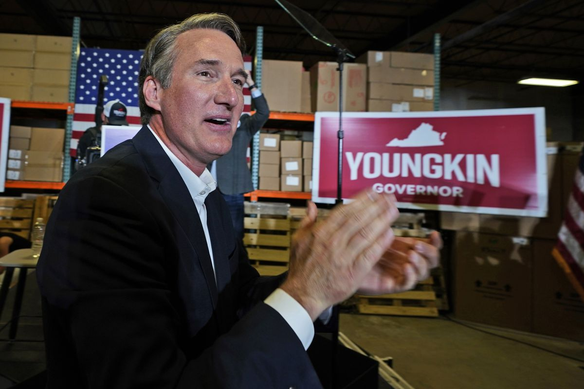 Republican gubernatorial candidate, Glen Youngkin arrives for an event in Richmond, Va., Tuesday, May 11, 2021.