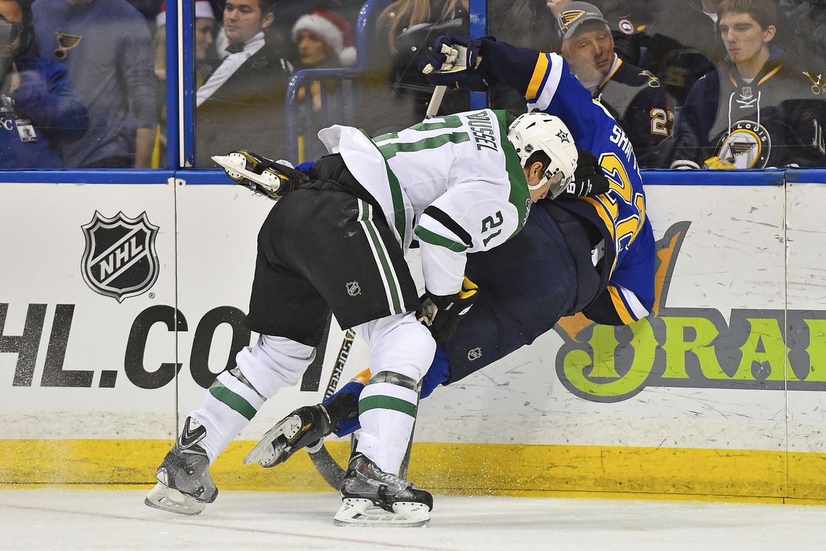 CURRENT BLUES MOOD: Getting trucked by an asshole like Antoine Roussel.