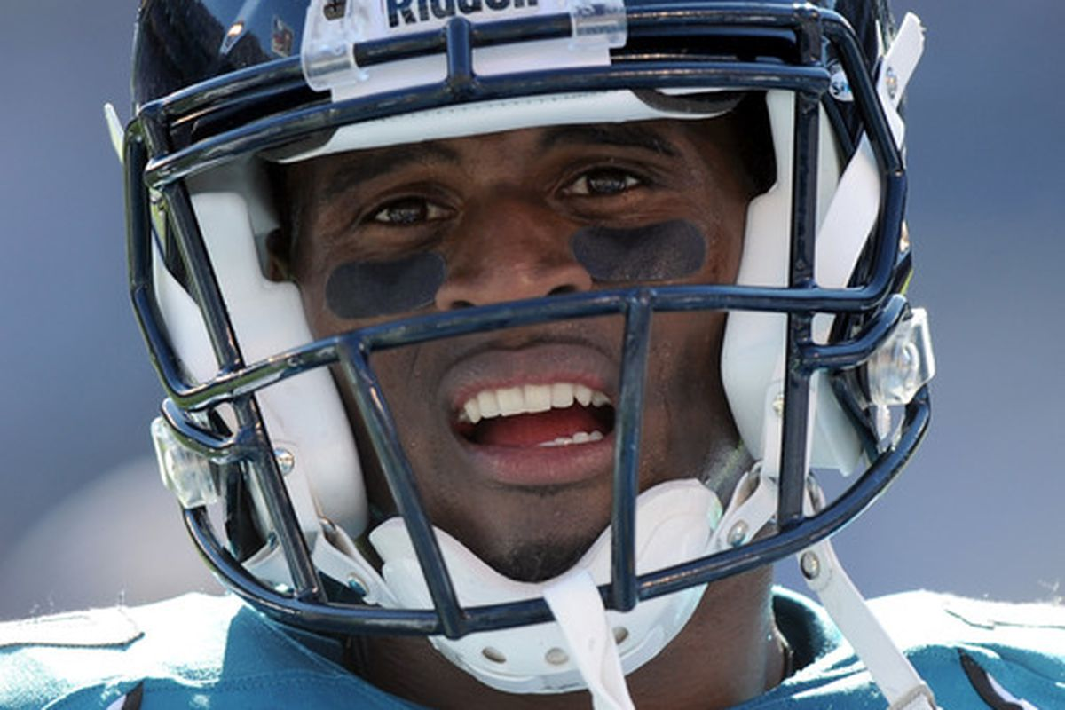 SAN DIEGO - SEPTEMBER 19:  Tiquan Underwood #19 of the Jacksonville Jaguars reacts on the sideline during a 38-13 loss to the San Diego Chargers at Qualcomm Stadium on September 19 2010 in San Diego California.  (Photo by Harry How/Getty Images)