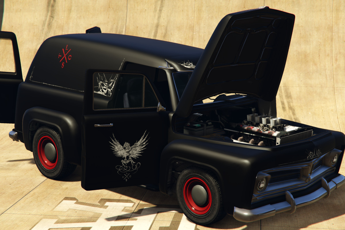 Lost Slamvan Gta Online S Rarest Car Can Only Be Won In The Casino Polygon