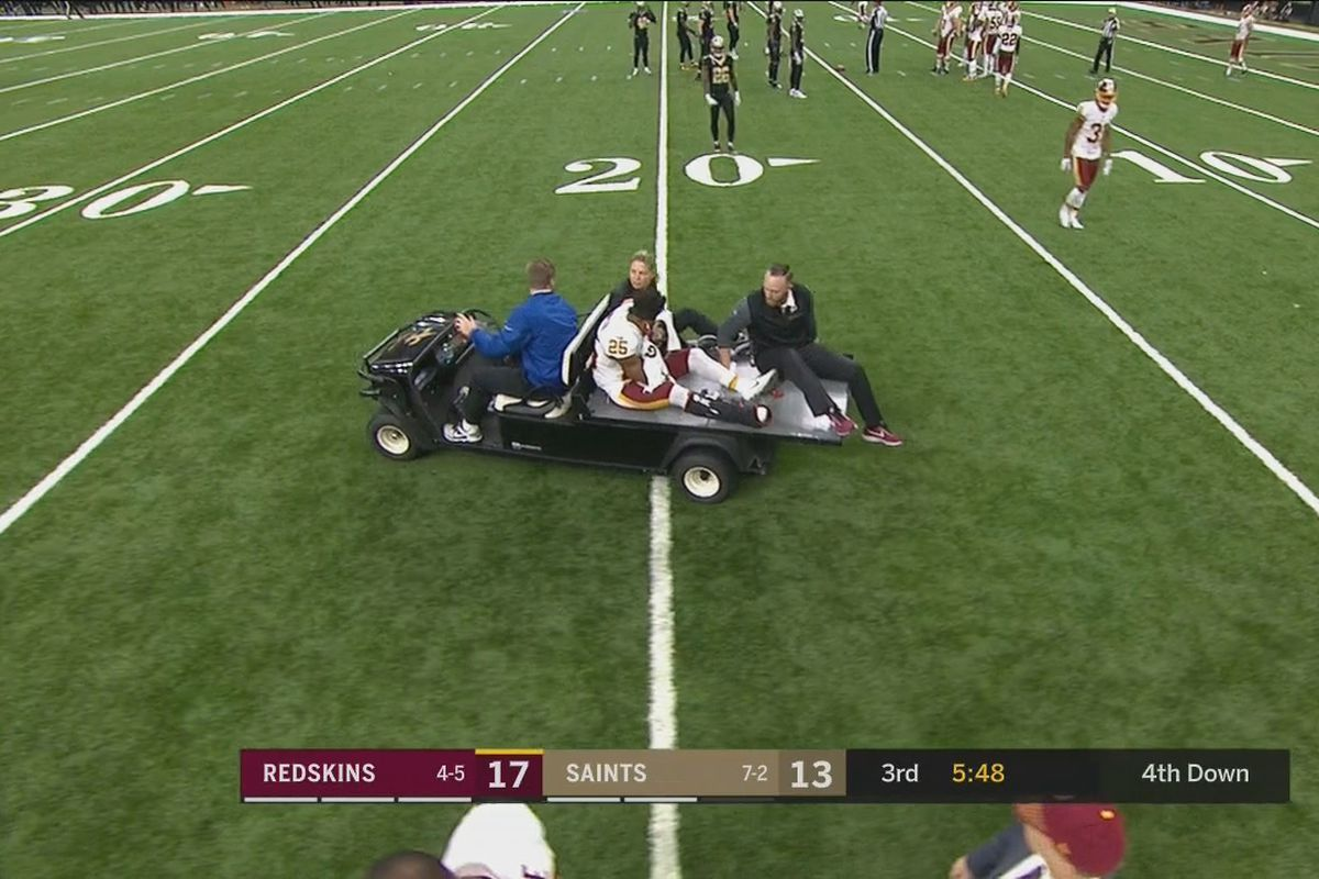 Redskins RB Chris Thompson Carted Off With Knee Injury