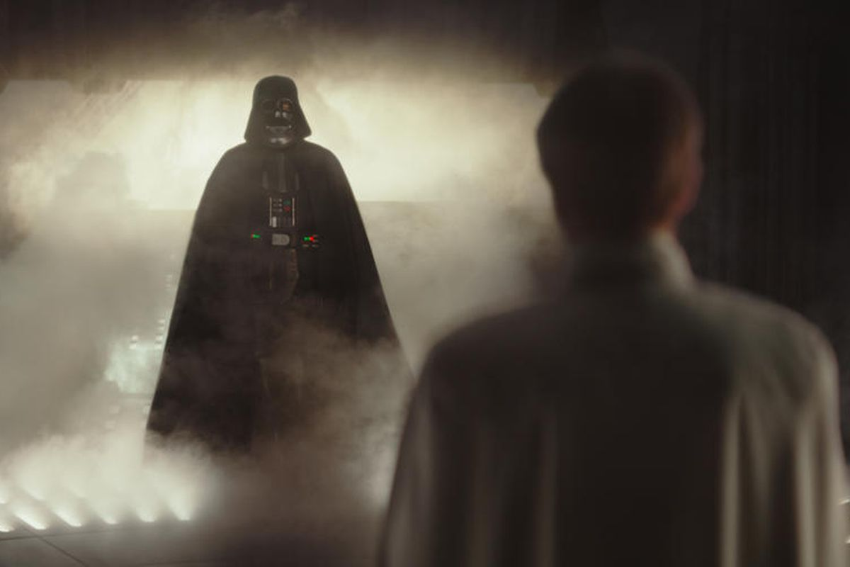 """Darth Vader in """"Rogue One: A Star Wars Story."""" Someone who worked on 'Rogue One' revealed that Vader and Tarkin nearly had a moment together."""