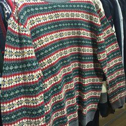 Men's sweater, $50