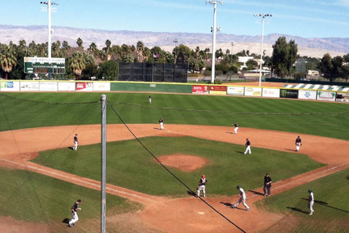 Palm Springs has been a perfect site for February winter baseball this weekend.