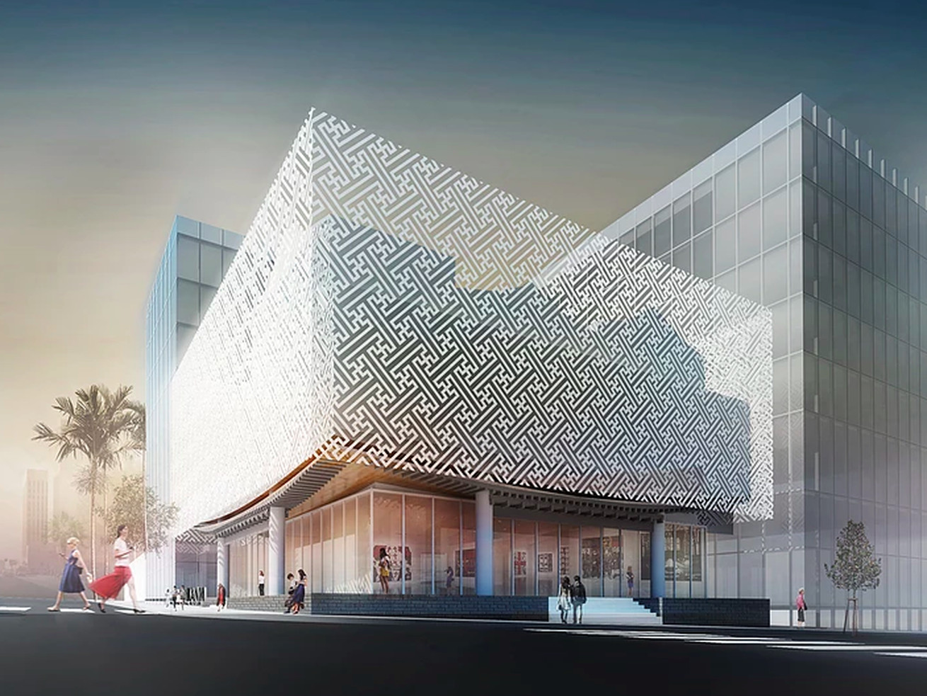 A 2017 rendering of the museum.