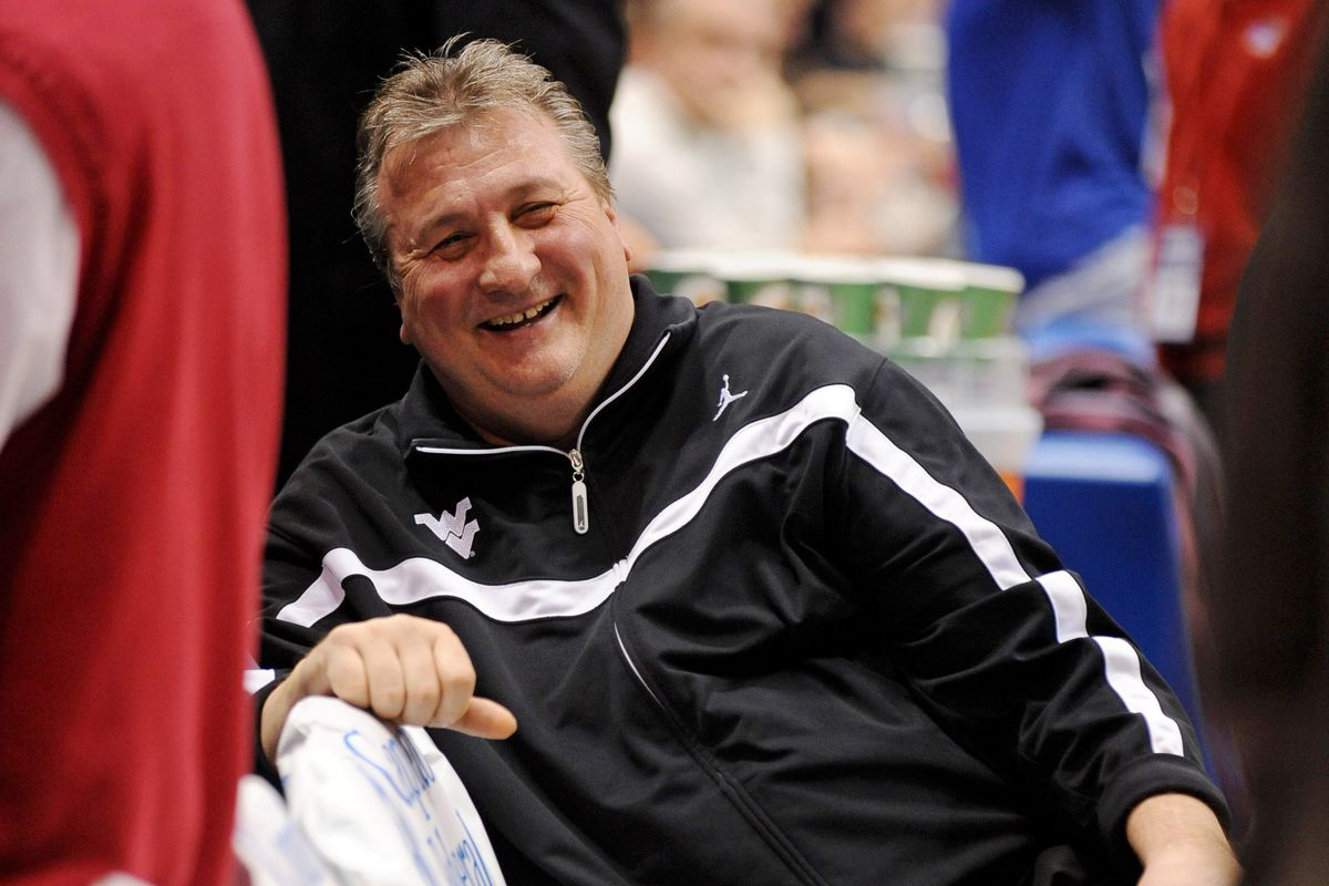 West Virginia Coach Bob Huggins is all smiles after WVU crushes Iowa State 102-77.