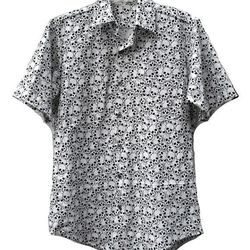 """<a href=""""http://www.etsy.com/listing/166001446/stack-o-skullz-handmade-collared-button?"""">Stack-O-Skullz Handmade Collared Button Up Shirt</a>, $69"""