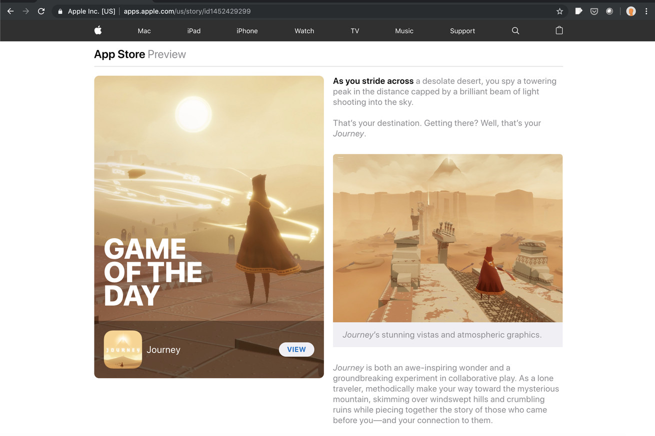 Apple's editorial App Store 'Today' stories now work in web browsers