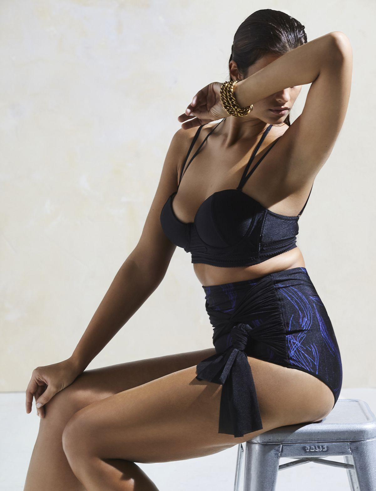 A Phylyda black two piece bathing suit