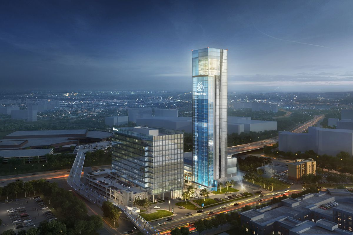A rendering shows how the tower will fit in with the Cumberland landscape.