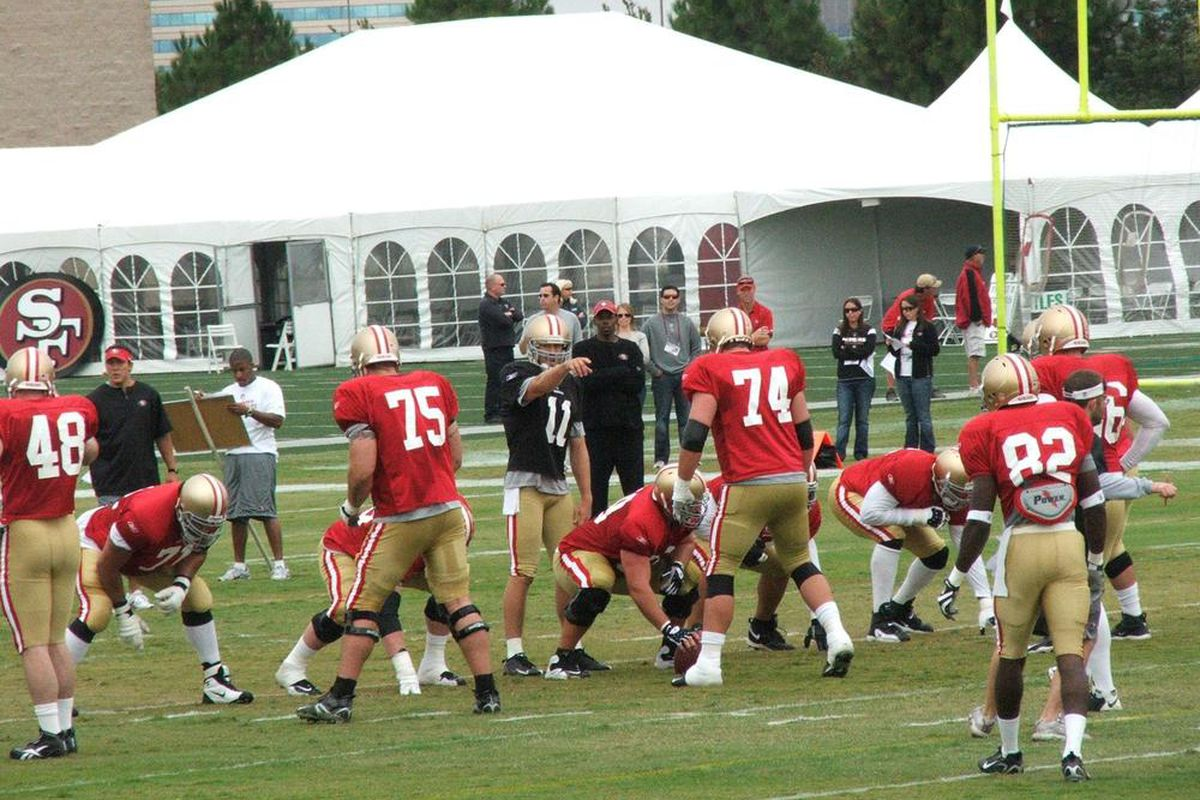 San Francisco 49ers training camp from 2009. (Photo taken by Samuel Lam for SB Nation)