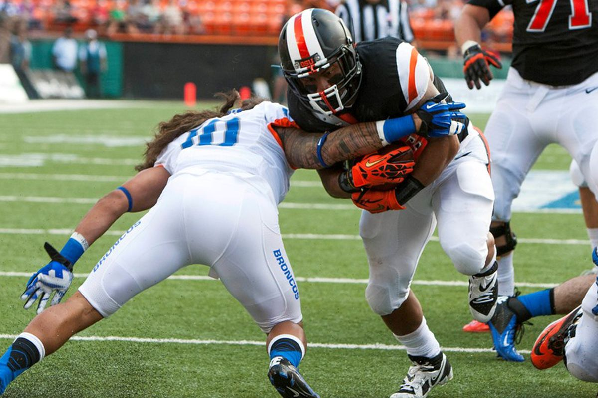 Oregon St. defeated Boise St. in the Hawaii Bowl to wrap up last season. but earned no separation in the initial AP poll of the year.