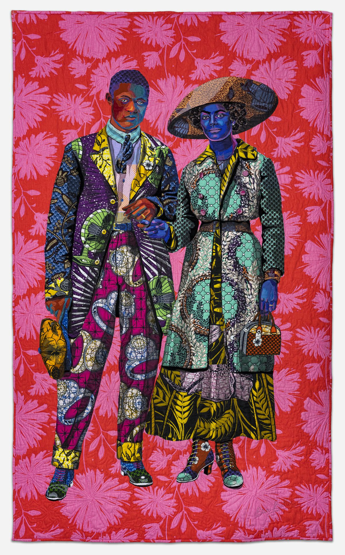 Bisa Butler. Broom Jumpers, 2019. Mount Holyoke College Art Museum, Purchase with the Belle and Hy Baier Art Acquisition Fund.© Bisa Butler. Photo by Margaret Fox